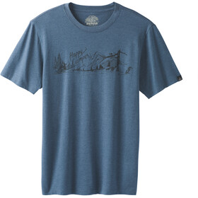 Prana Trail Maglietta a maniche corte Uomo, denim heather